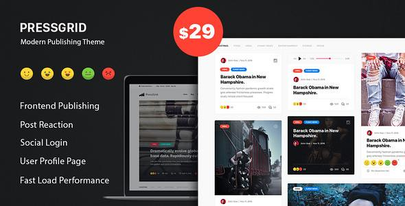 PressGrid WordPress Theme free download