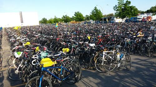 Bikes. Bikes as far as the eye can see. #rtccto