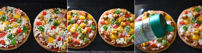 How to make paneer pizza - Step5