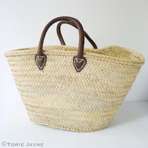 straw basket - before