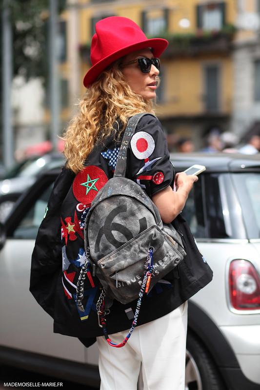 Elina Halimi at Milan Fashion week Menswear day 3
