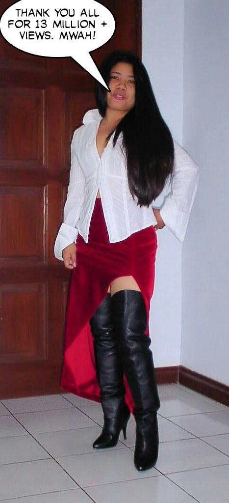 Mature wife thigh boots