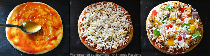 How to make paneer pizza - Step4