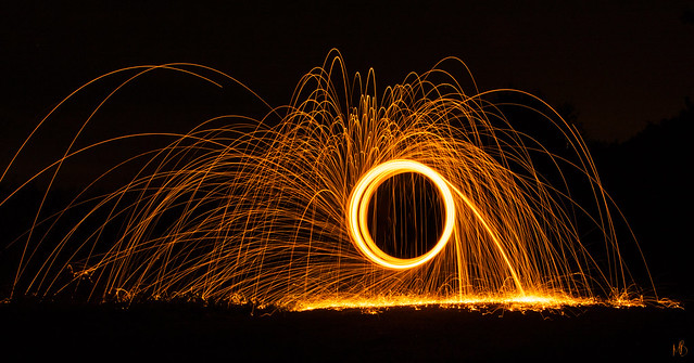 Wire Wool Spin