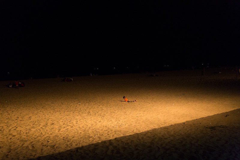 Kallady beach after dark, Batticaloa