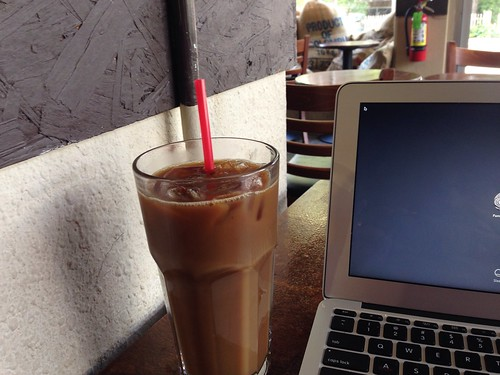 iced coffee at Sack's