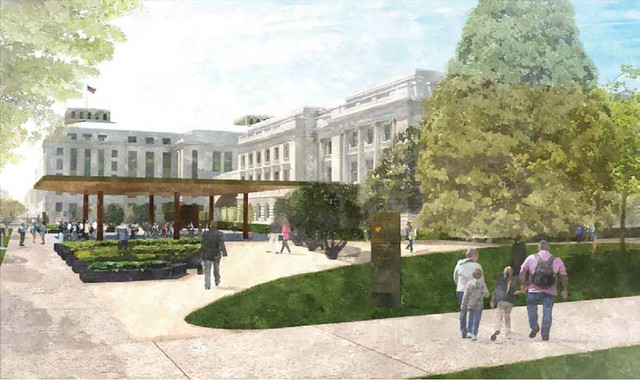 rendering of Lincoln Teaching Garden and Market Commons (by: OLBN, courtesy of NCPC)