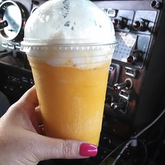 A yummy peach smoothie