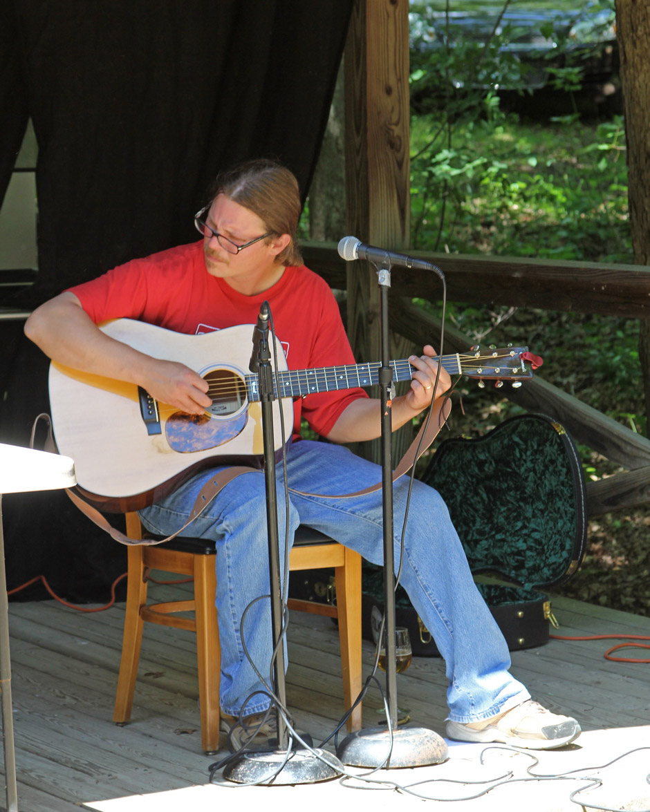 Adam Yount at Peaceful Bend Vineyard