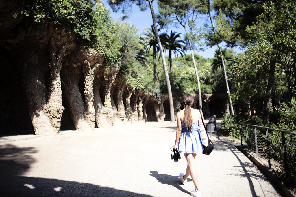 postcards from Barcelona, exploring Park Guell aka Gaudi Gardens
