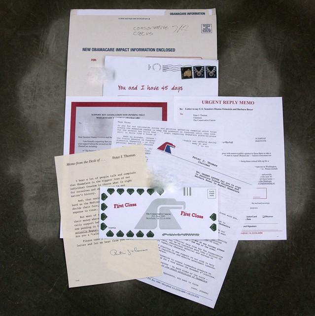 Conservative Caucus junk mail