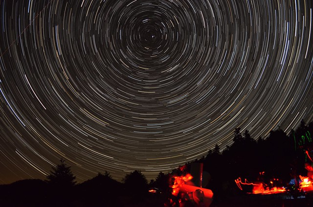 Star Trails in Elikonas Mountain