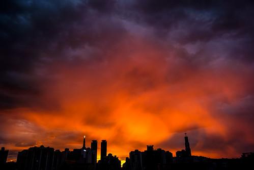 city red silhouette sunrise korea seoul 대한민국 빨강 일출 도시 실루엣 서울특별시