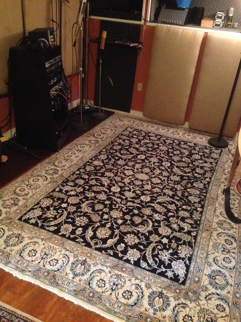 High Quality Rugs Are An Essential Part Of My Living And Recording Space : ) Naeen,  Isfahan And CraigsList : ).... Pardon The Mess   Back To Back Gigs Waiting  To Load Up ...