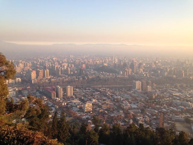 Cerro San Cristóbal, Parque Metropolitano de Santiago, Chile.