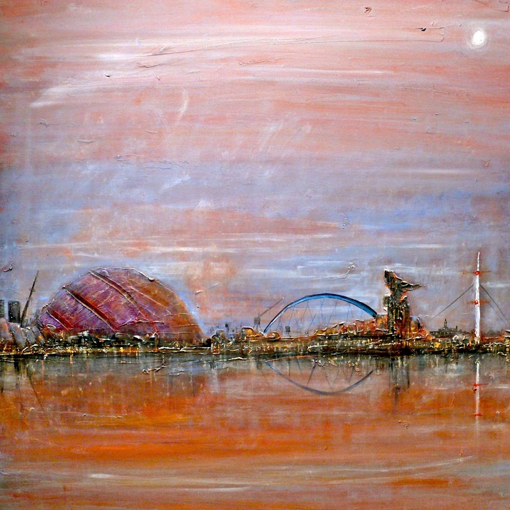 glasgow harbour painting