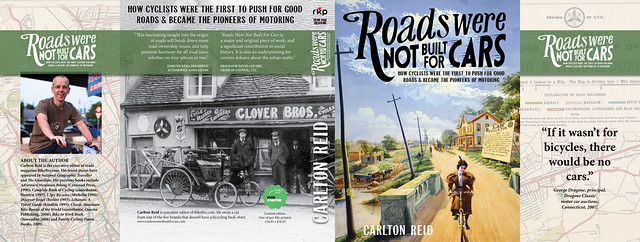 Dust jacket for hardback Roads Were Not Built For Cars