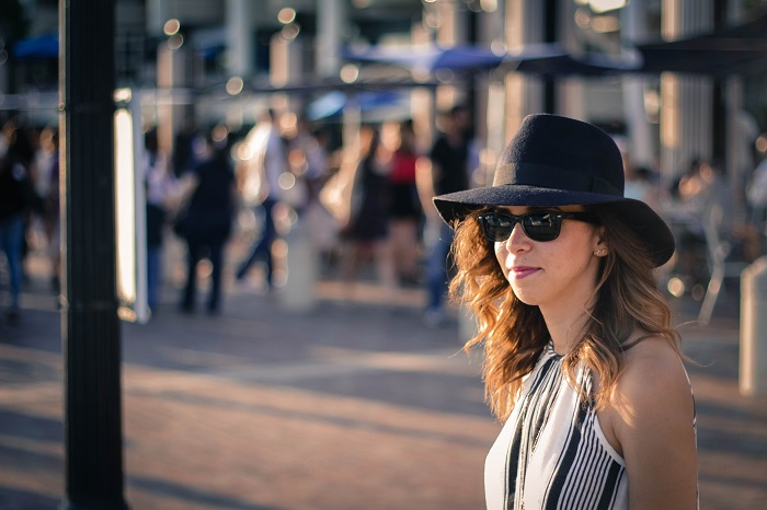 va darling. dc blogger. virginia personal style blogger. swing dress. georgetown waterfront. felt fedora hat. joie sandals. summer style 6