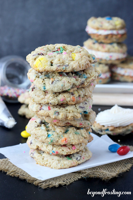 Funfetti Monster Cookie Sandwich  | beyondfrosting.com