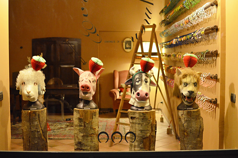 Animals in Headbands, Bergamo, Italy