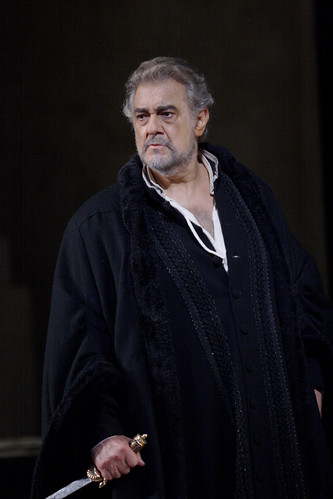 Plácido Domingo in action.