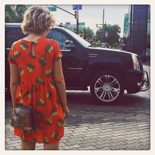 Street Fashion Pineapples at Starbucks