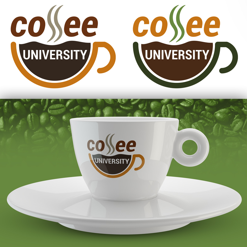 Coffee UNIVERSITY logóterv