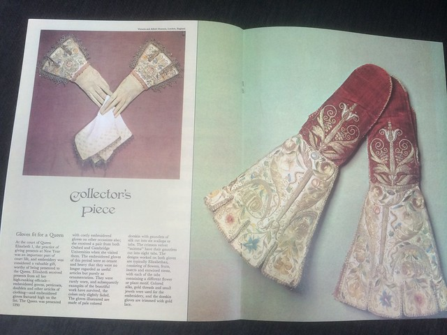 The awesome article featuring Elizabethan gloves and mittens