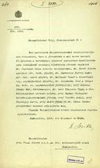 012. A Főrendiház elnökének átiratai gróf Tisza István miniszterelnöknek a koronázással kapcsolatos és a Koronázási hitlevél szövegének megállapítására kiküldött országos bizottságok főrendi tagjairól