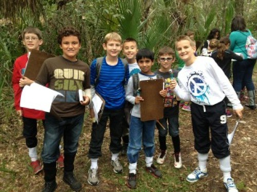 students in Florida wetland