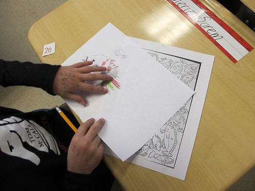 4th Grade Art Auction Project: Mrs. Z's Fish Drawing Lesson