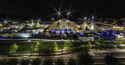 Wide Angle Cirque du Soleil (Sans Paint) by Geoff Livingston