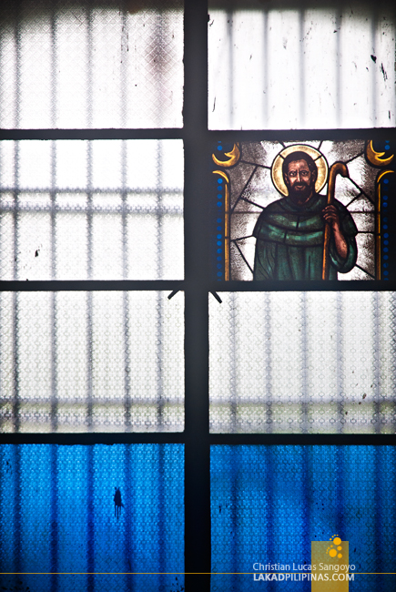 Stained Glass Window Details at Vigan City's St. Paul Cathedral