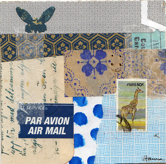 Collage: Blue Dragonflies