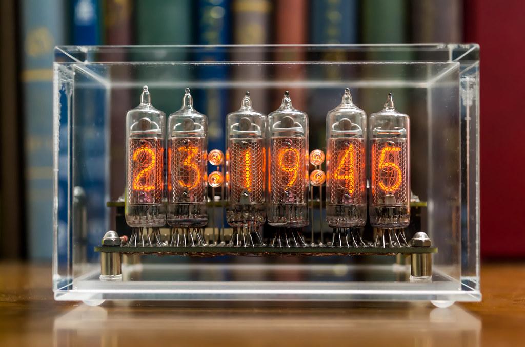 Nixie Tube Clock in Acrylic Case