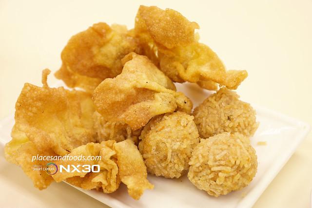 cheong kei macau fried wonton and rice ball