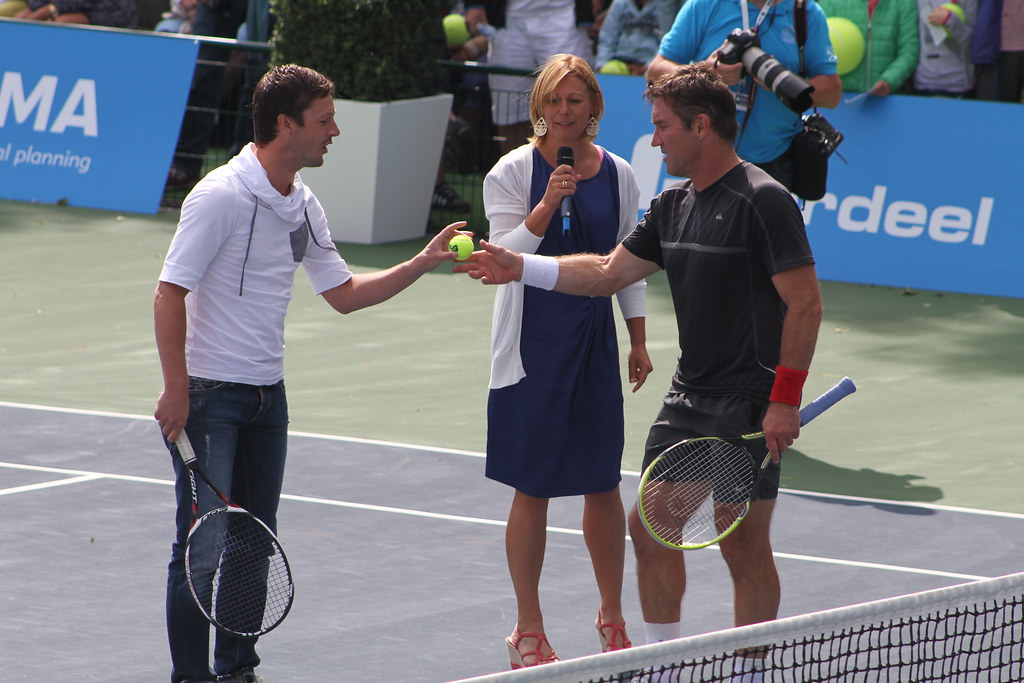 Sabine Appelmans and Pat Cash