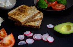 Avocado and tomato veggie sandwich I