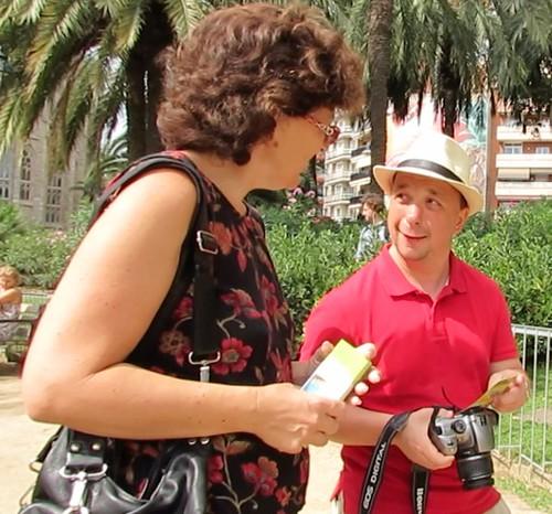 Slovakian visitor to Barcelona