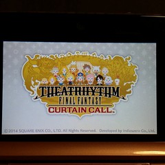 @rebelliousdante ... I hate you, this game is waaaay to addictive! #finalfantasy #curtaincall #theaterhythm #ds #3ds #videogames #nintendo