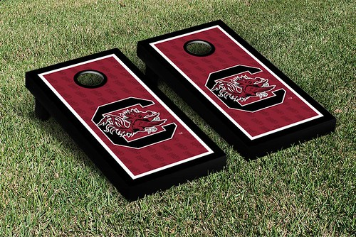 South Carolina Gamecocks Cornhole Game Set Border Version 2