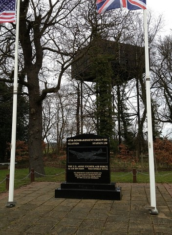 Glatton memorial and water tower