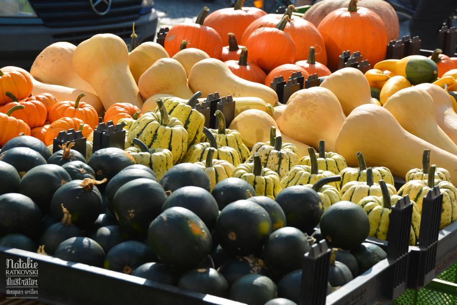 The Weekend Market in Husum, North Sea