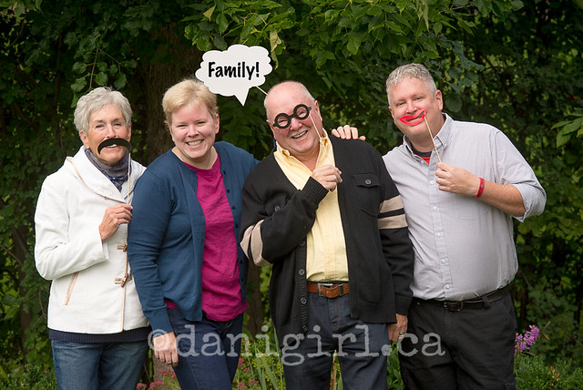 Silly prop family portrait fun by Danielle Donders