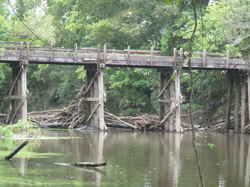 Derelict bridge by Buzbee Drive
