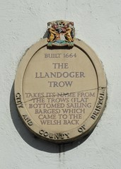Photo of Llandoger Trow stone plaque
