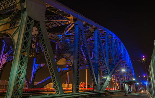 Veterans Memorial Bridge in Blue Soft Edit by Geoff Livingston