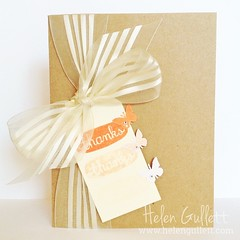 Triple Stamping, Tag, Thanks Card