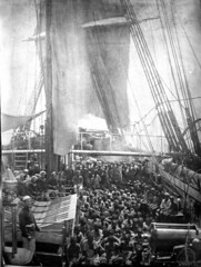 Rescued East African slaves taken aboard HMS Daphne from a dhow, November 1868
