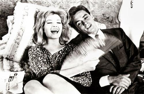 Monica Vitti and Alain Delon in L'eclisse (1962)